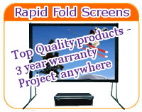 Rapid Fold Projector Screens