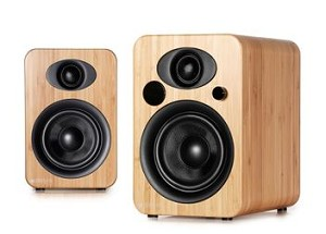 Steljes Audio NS3 Powered Loudspeakers in Bamboo