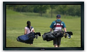 Acoustically Transparent  Sapphire Fixed Frame Front Projection Screen Viewing Area 2340mm x 1320mm 16:9 Format
