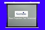 Sapphire 2.3m rear projection tab tensioned electric wall screen 4:3 format