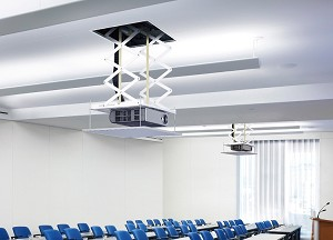 Projector lift for small ceiling voids
