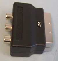 Scart out to yellow red and white phono sockets