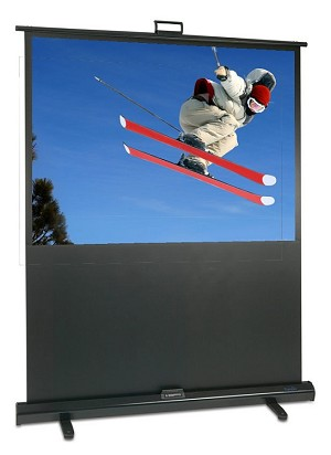 "Sapphire Portable Pull-up 100"" Projection Screen, 1.98m x 1.49m VALUE RANGE Approx Case Dimensions L 2192mm x H 83mm x 61mm"
