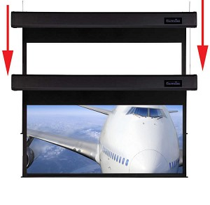 Sapphire Smart Move 2.4m 16:9 Viewing Area 2338mm x 1320mm Two Motor Electric Projection Screen Approx Case Dimensions L 2635mm x H 173mm x D 133mm