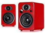 Steljes Audio NS3 Powered Loudspeakers in Vermilion Red