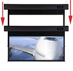 Sapphire Smart Move 2.4m 16:10 Viewing Area 2338mm x 1461mm Two Motor Electric Projection Screen Approx Case Dimensions L 2635mm x H 173mm x D 133mm